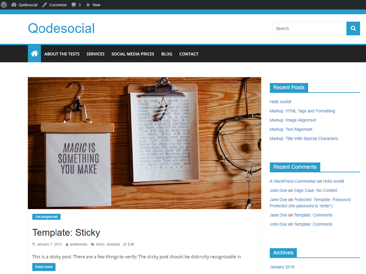 Qodesocial Preview Wordpress Theme - Rating, Reviews, Preview, Demo & Download
