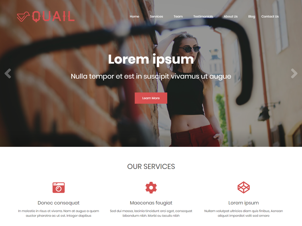 Quail Preview Wordpress Theme - Rating, Reviews, Preview, Demo & Download