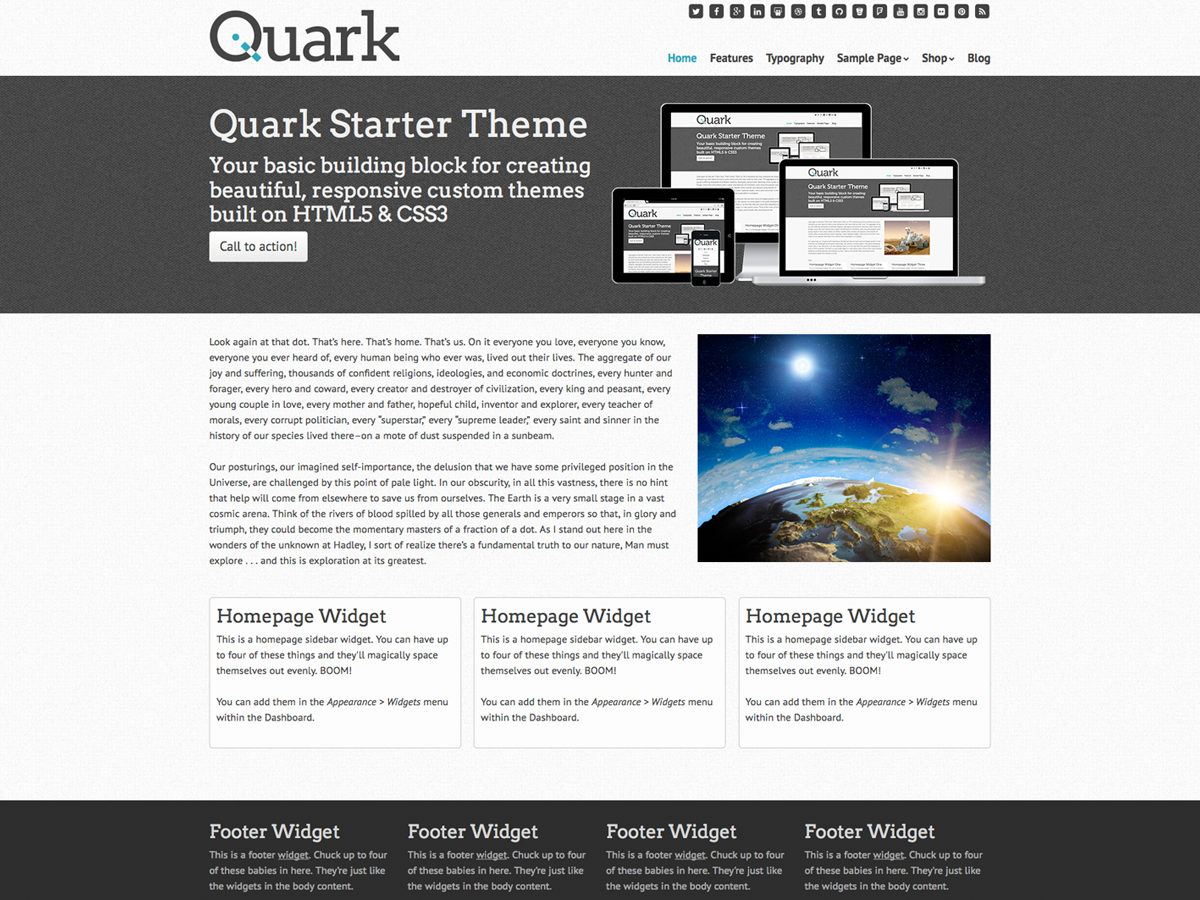 Quark Preview Wordpress Theme - Rating, Reviews, Preview, Demo & Download