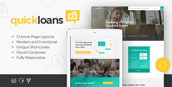 QuickLoans Preview Wordpress Theme - Rating, Reviews, Preview, Demo & Download