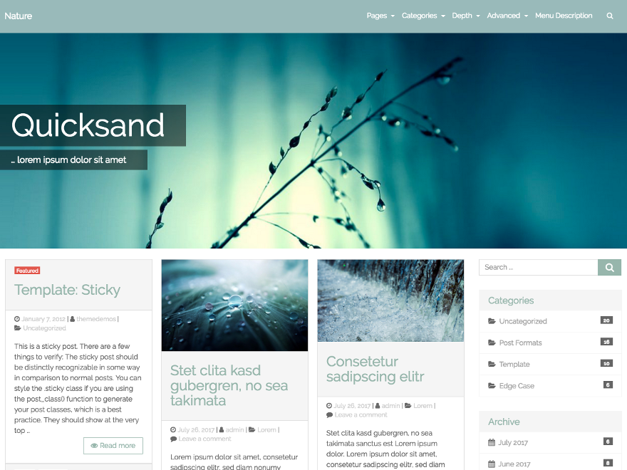 Quicksand Preview Wordpress Theme - Rating, Reviews, Preview, Demo & Download