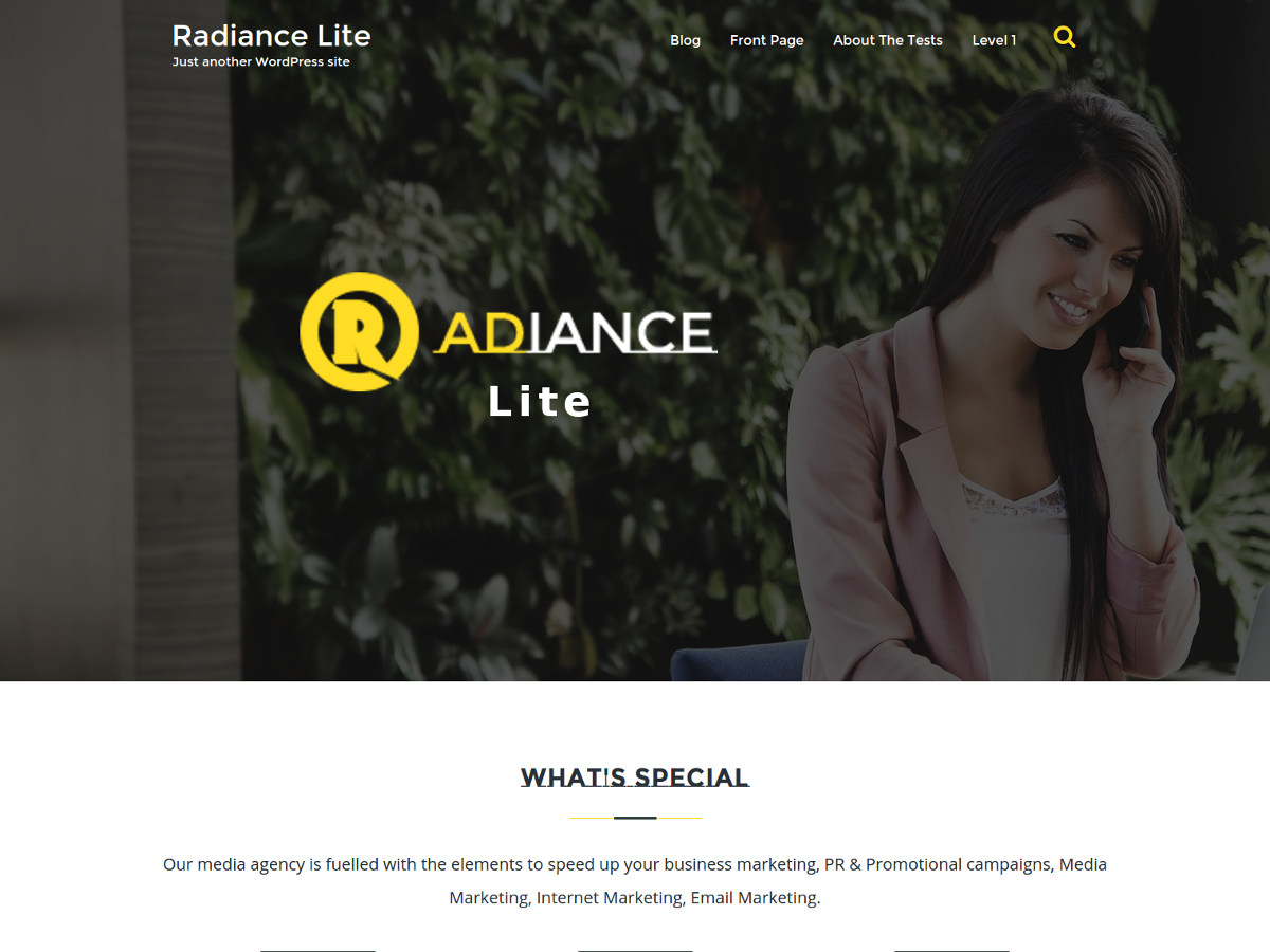 Radiance Lite Preview Wordpress Theme - Rating, Reviews, Preview, Demo & Download