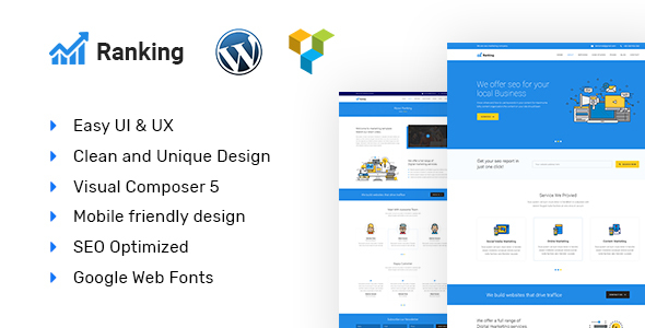 Ranking Preview Wordpress Theme - Rating, Reviews, Preview, Demo & Download