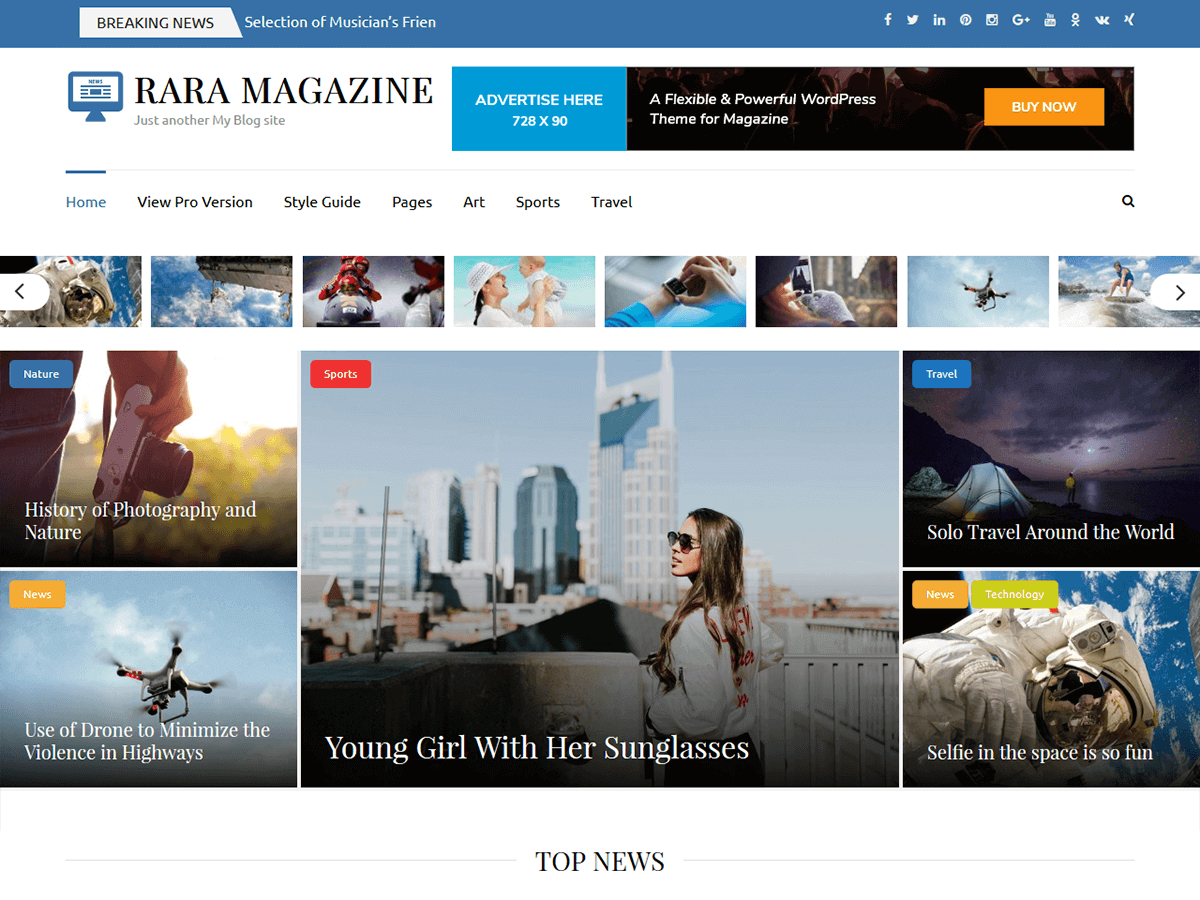 Rara Magazine Preview Wordpress Theme - Rating, Reviews, Preview, Demo & Download