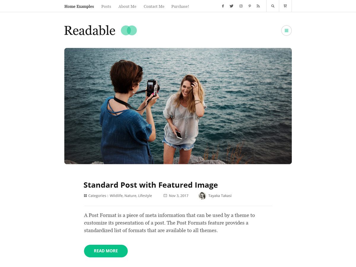 Rara Readable Preview Wordpress Theme - Rating, Reviews, Preview, Demo & Download