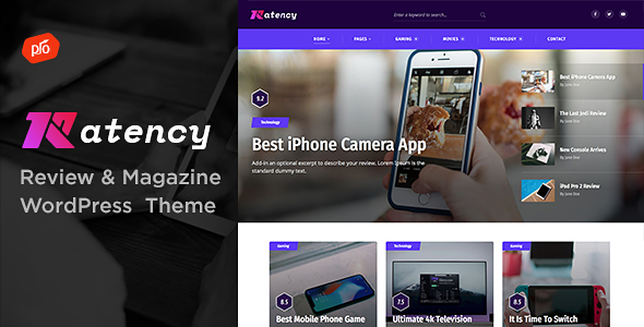 Ratency Preview Wordpress Theme - Rating, Reviews, Preview, Demo & Download