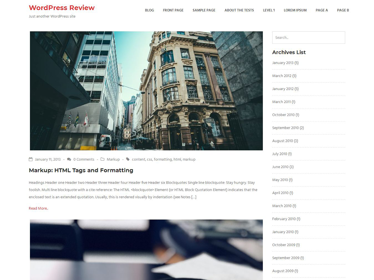 Ratio Lite Preview Wordpress Theme - Rating, Reviews, Preview, Demo & Download
