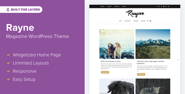 Rayne Preview Wordpress Theme - Rating, Reviews, Preview, Demo & Download