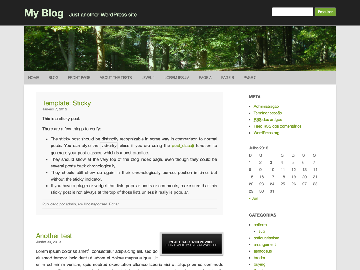 RCG Forest Preview Wordpress Theme - Rating, Reviews, Preview, Demo & Download