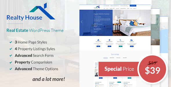 Realty House Preview Wordpress Theme - Rating, Reviews, Preview, Demo & Download