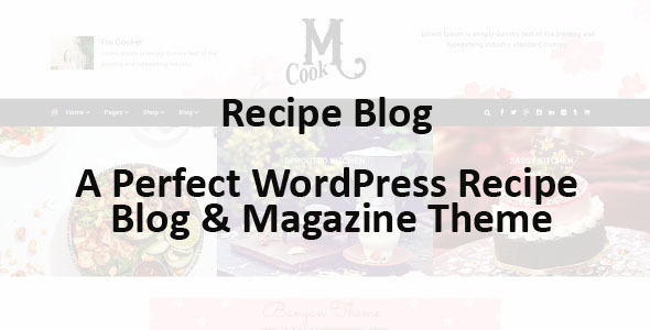 Recipe Blog Preview Wordpress Theme - Rating, Reviews, Preview, Demo & Download