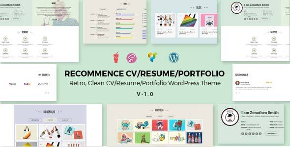 Recommence Preview Wordpress Theme - Rating, Reviews, Preview, Demo & Download