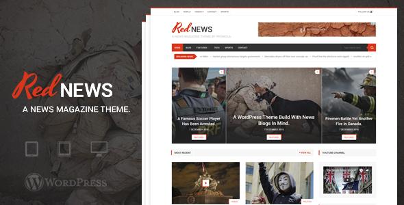 RedNews Preview Wordpress Theme - Rating, Reviews, Preview, Demo & Download