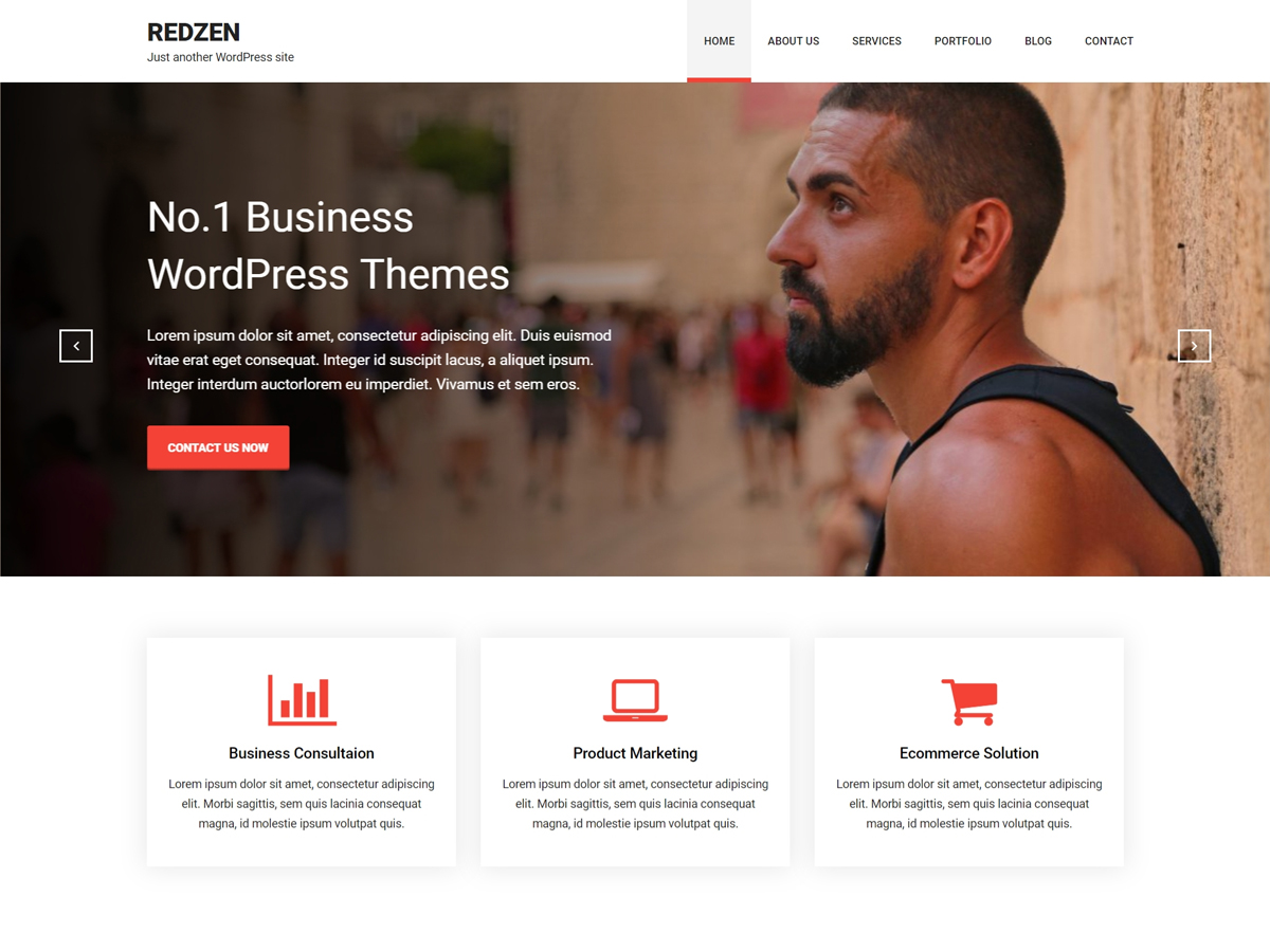 Redzen Preview Wordpress Theme - Rating, Reviews, Preview, Demo & Download