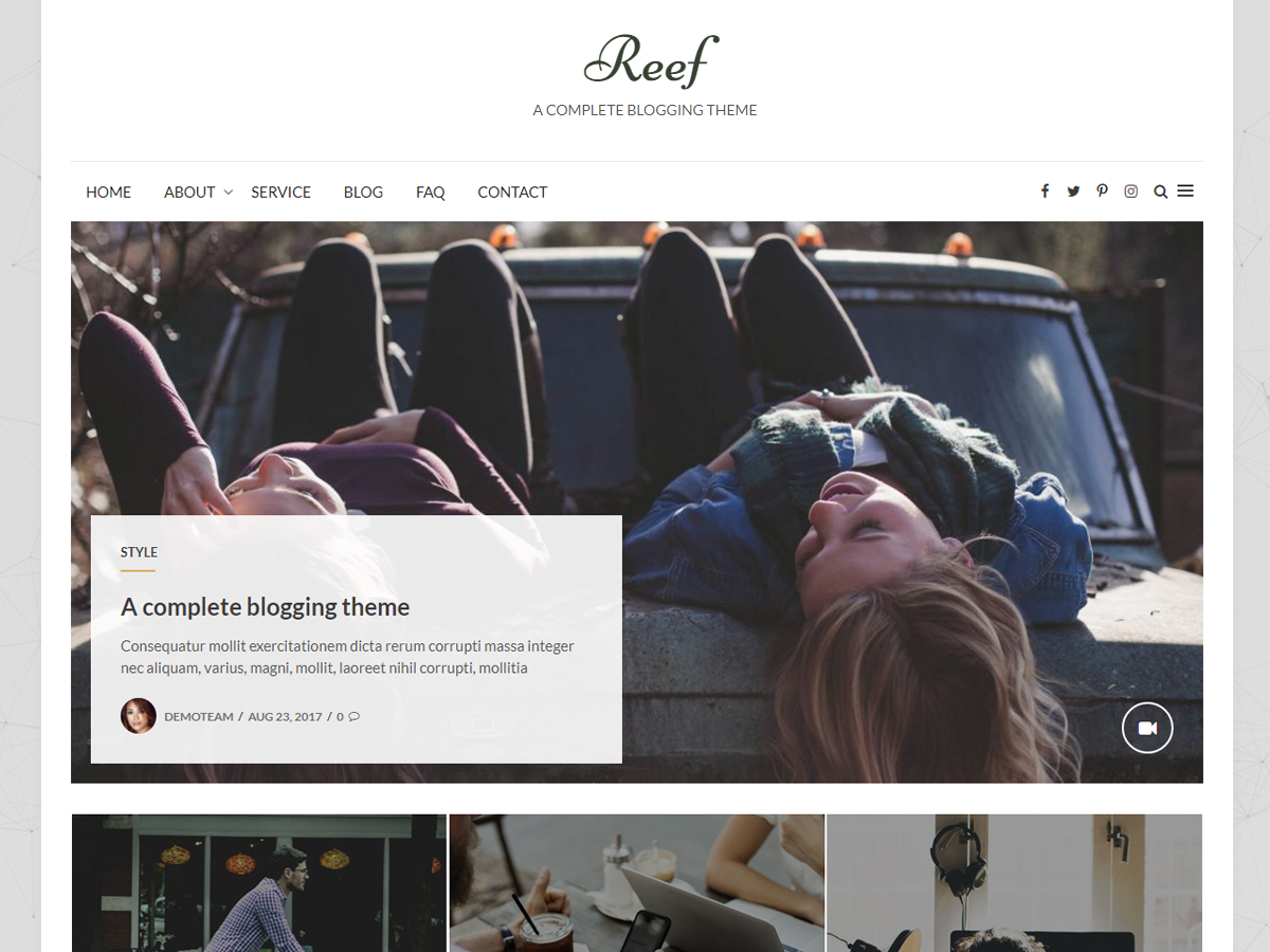 Reef Preview Wordpress Theme - Rating, Reviews, Preview, Demo & Download