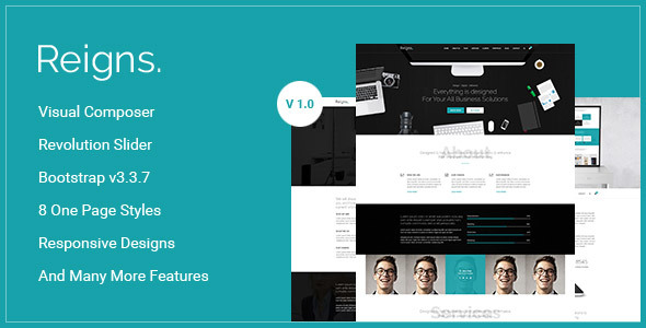 Reigns Preview Wordpress Theme - Rating, Reviews, Preview, Demo & Download