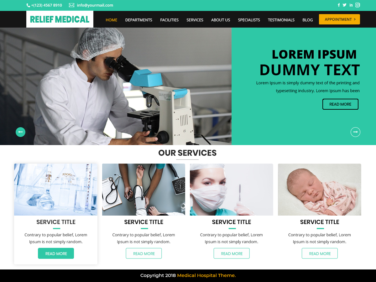 Relief Medical Preview Wordpress Theme - Rating, Reviews, Preview, Demo & Download
