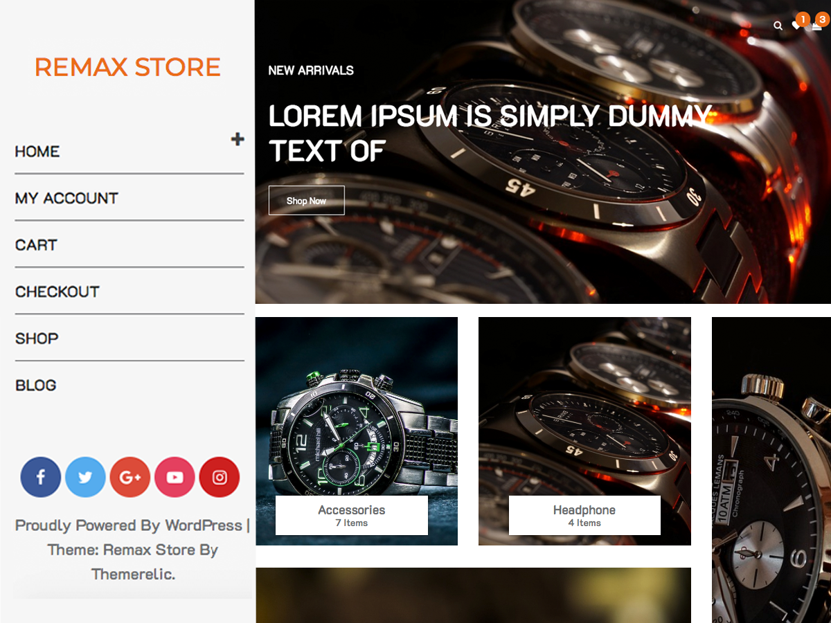 Remax Store Preview Wordpress Theme - Rating, Reviews, Preview, Demo & Download
