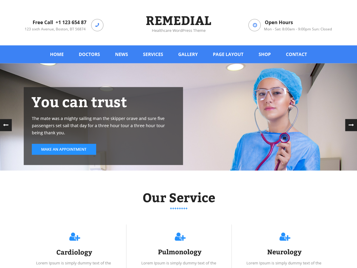 Remedial Preview Wordpress Theme - Rating, Reviews, Preview, Demo & Download