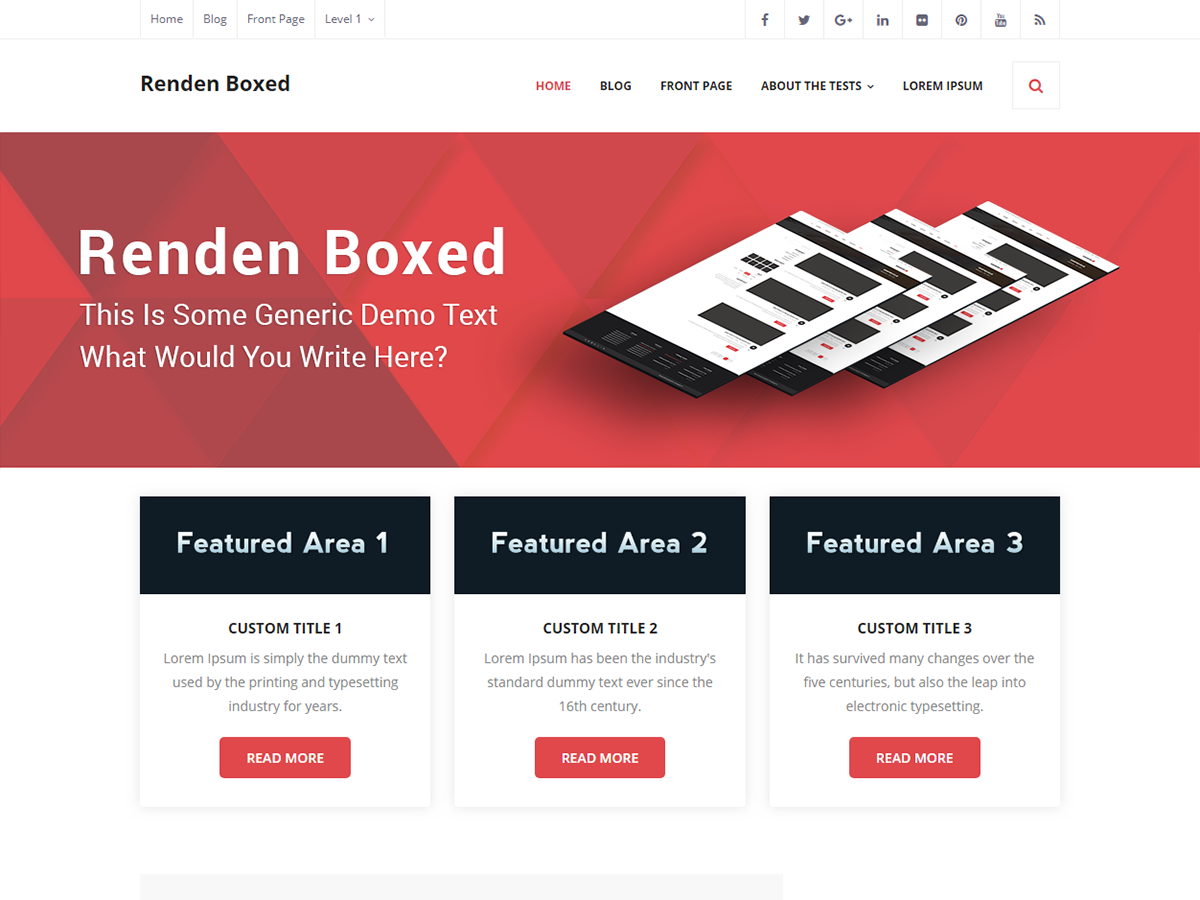 Renden Boxed Preview Wordpress Theme - Rating, Reviews, Preview, Demo & Download