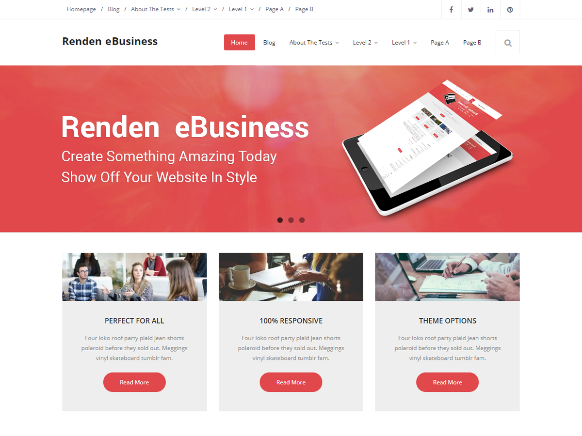 Renden EBusiness Preview Wordpress Theme - Rating, Reviews, Preview, Demo & Download