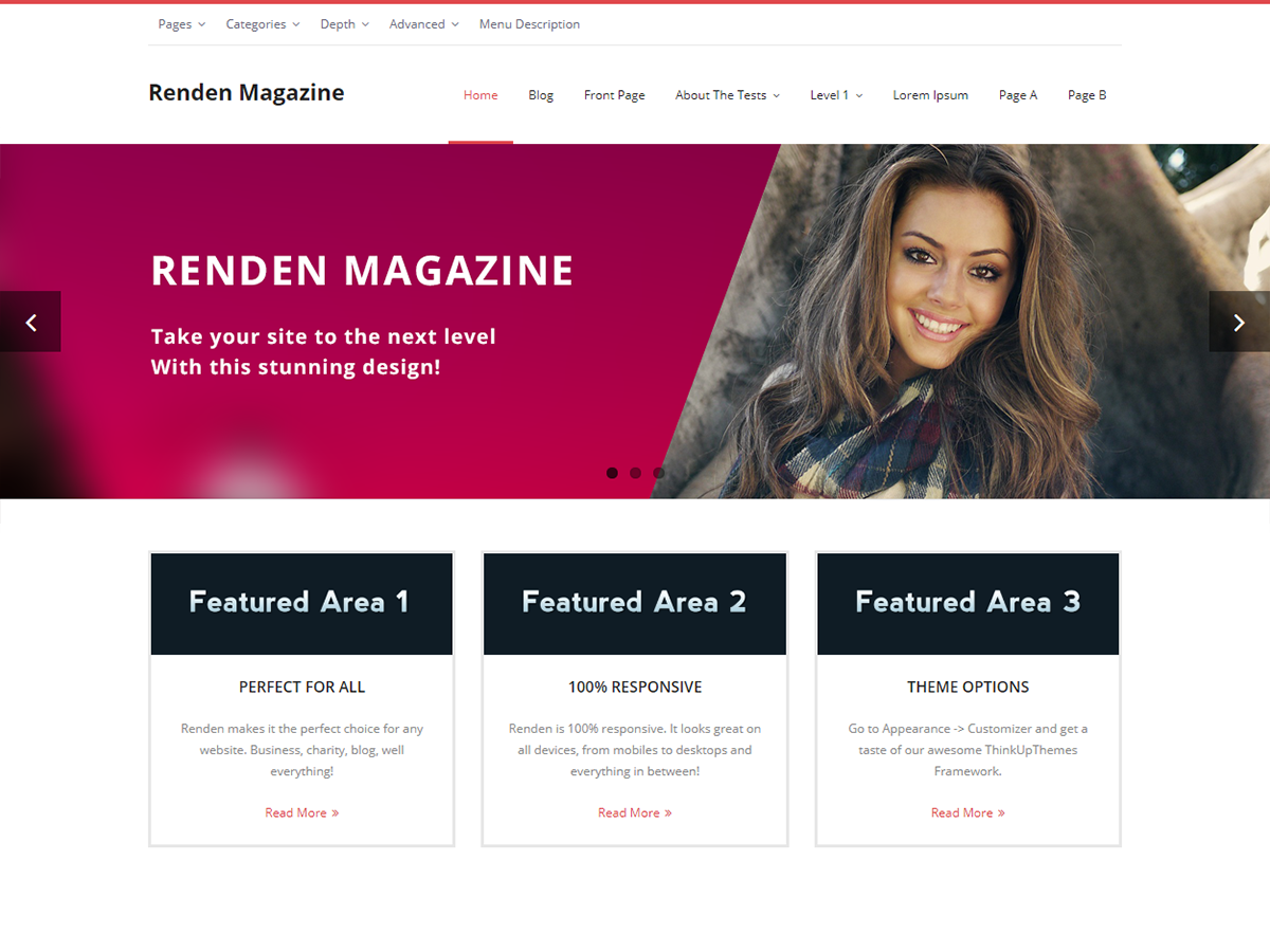 Renden Magazine Preview Wordpress Theme - Rating, Reviews, Preview, Demo & Download