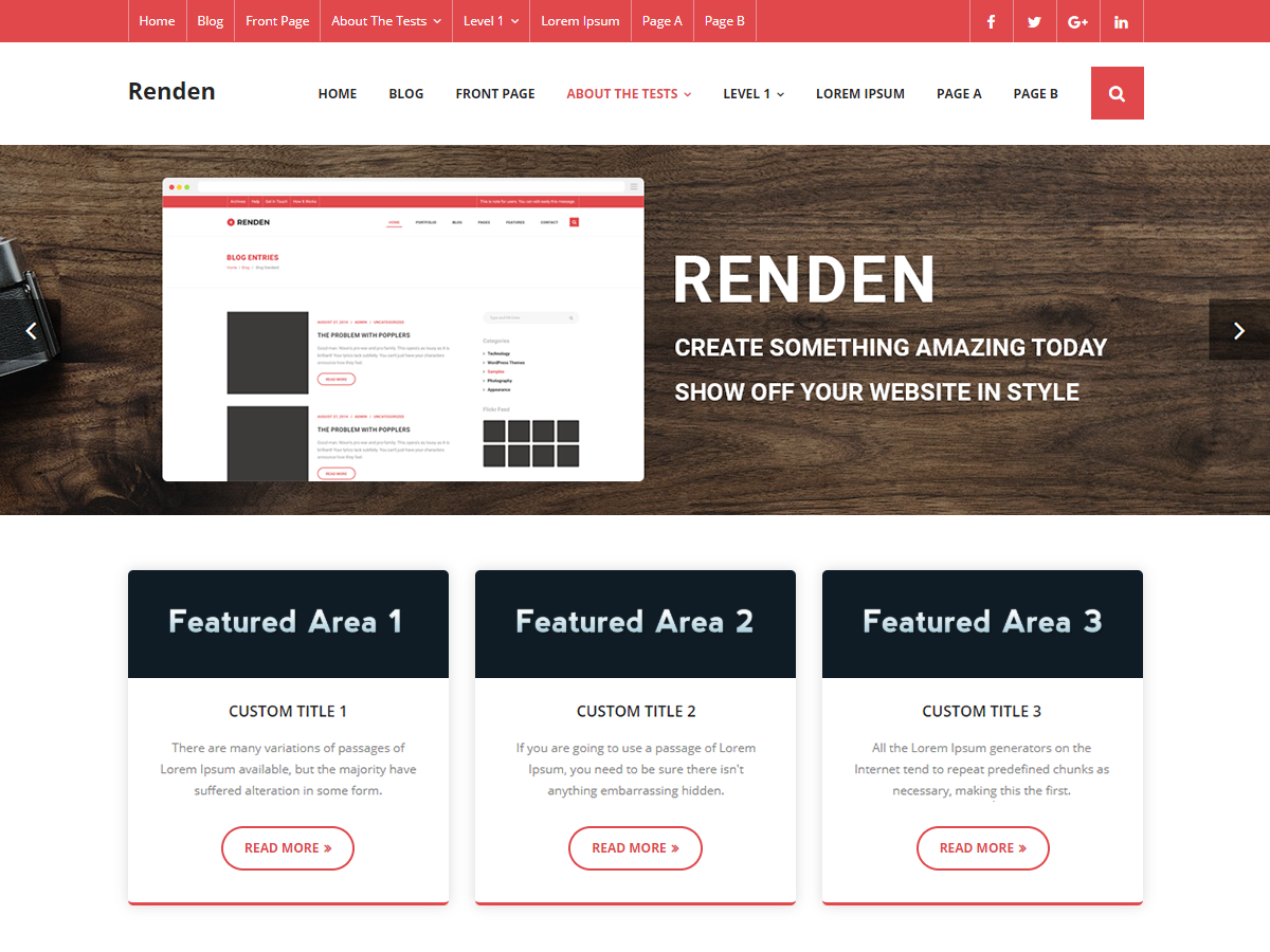 Renden Minimal Preview Wordpress Theme - Rating, Reviews, Preview, Demo & Download
