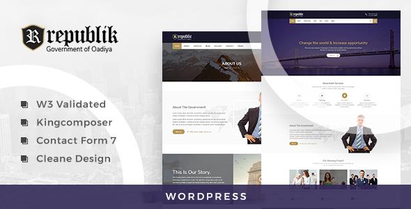 Republik Preview Wordpress Theme - Rating, Reviews, Preview, Demo & Download