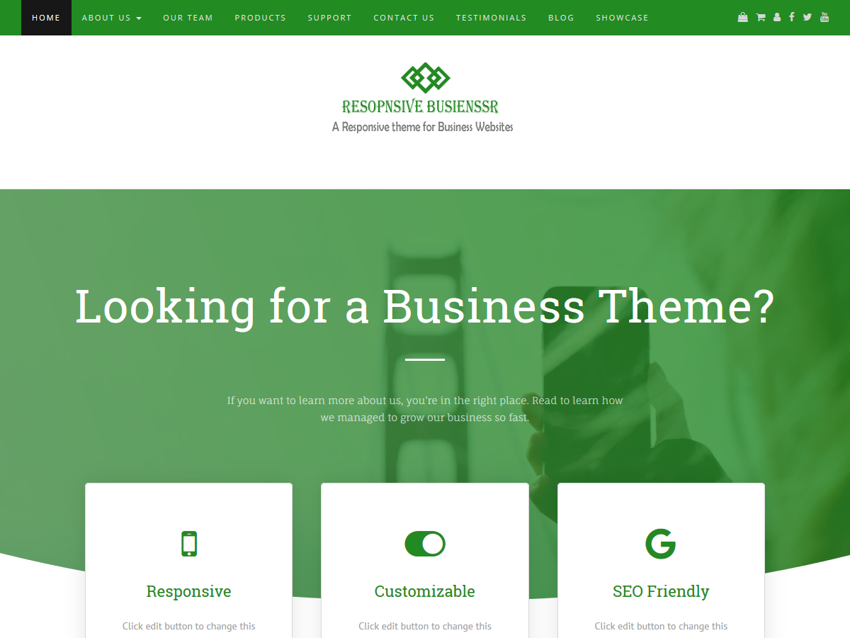 Responsive Businessr Preview Wordpress Theme - Rating, Reviews, Preview, Demo & Download