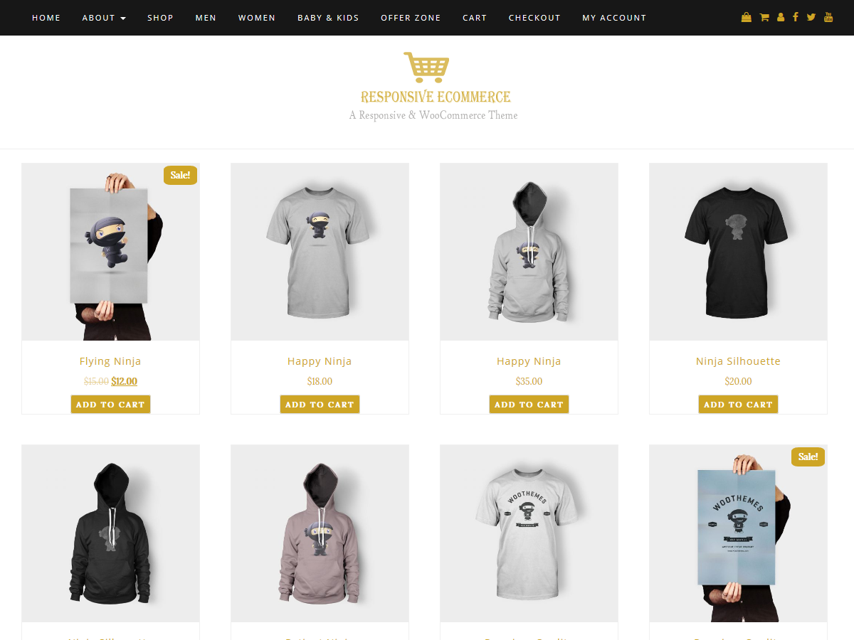 Responsive ECommerce Preview Wordpress Theme - Rating, Reviews, Preview, Demo & Download
