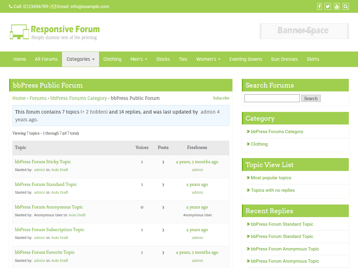 Responsive Forum Preview Wordpress Theme - Rating, Reviews, Preview, Demo & Download