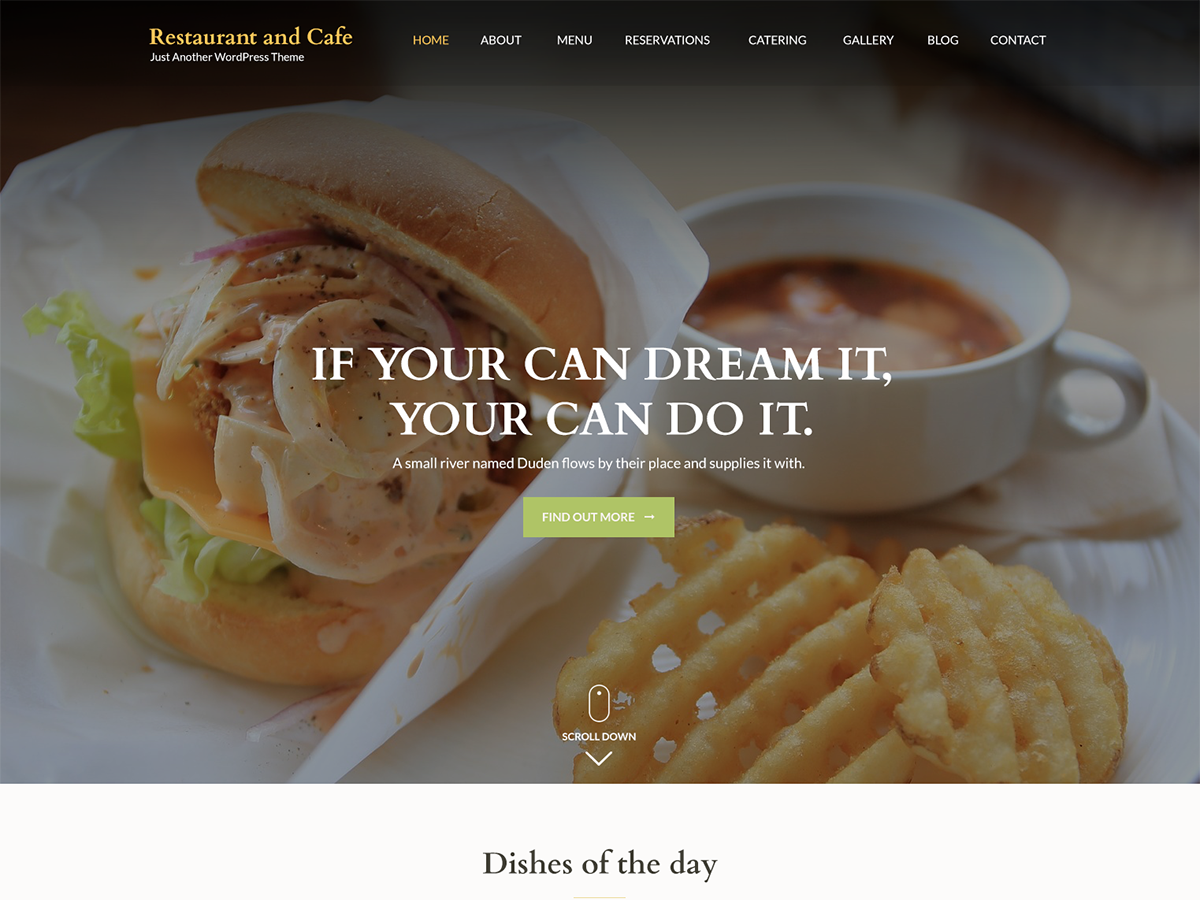 Restaurant And Preview Wordpress Theme - Rating, Reviews, Preview, Demo & Download