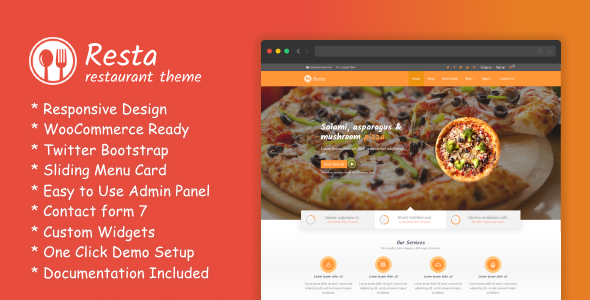 RestaWP Preview Wordpress Theme - Rating, Reviews, Preview, Demo & Download