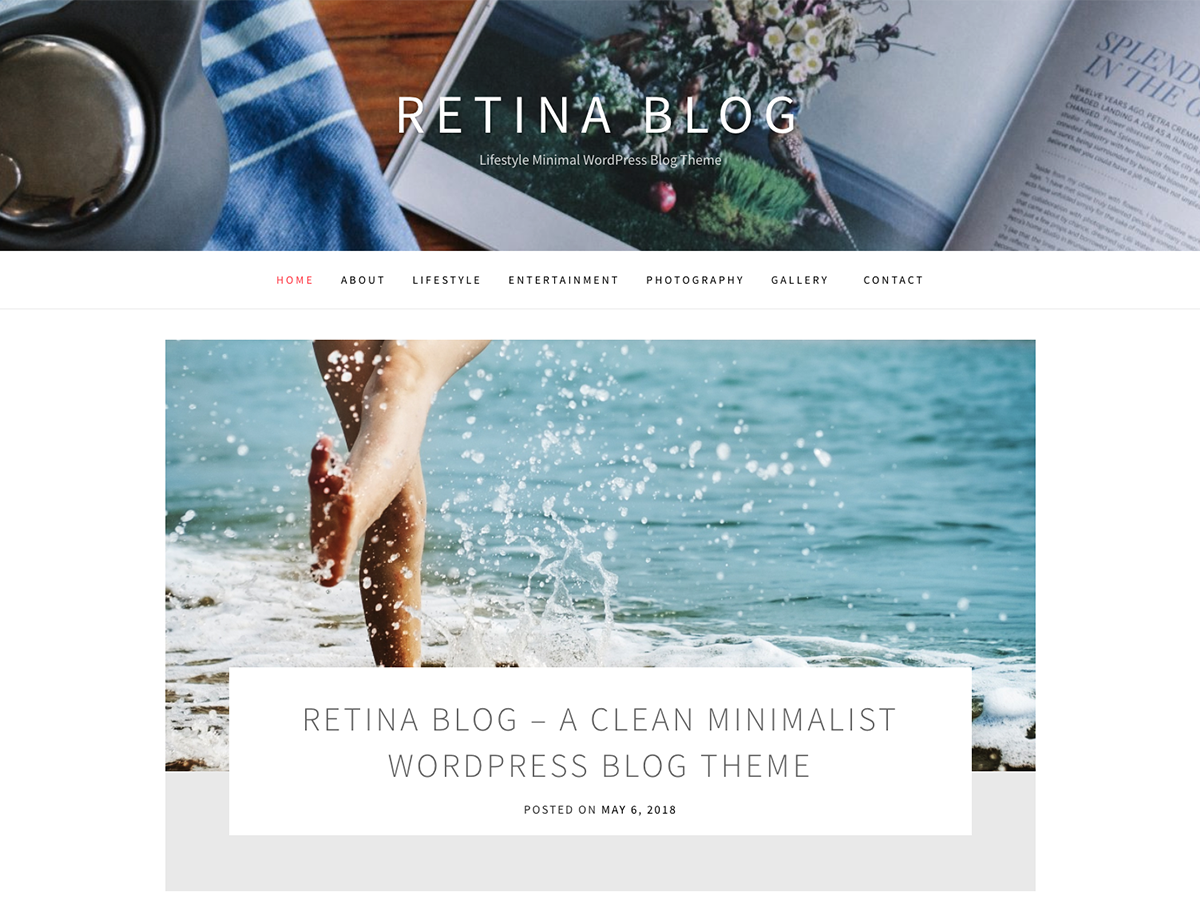 Retina Blog Preview Wordpress Theme - Rating, Reviews, Preview, Demo & Download