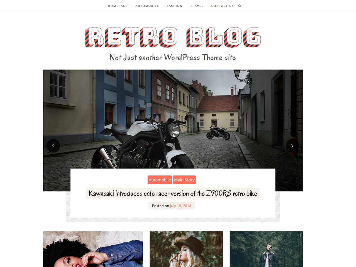 Retro Blog Preview Wordpress Theme - Rating, Reviews, Preview, Demo & Download