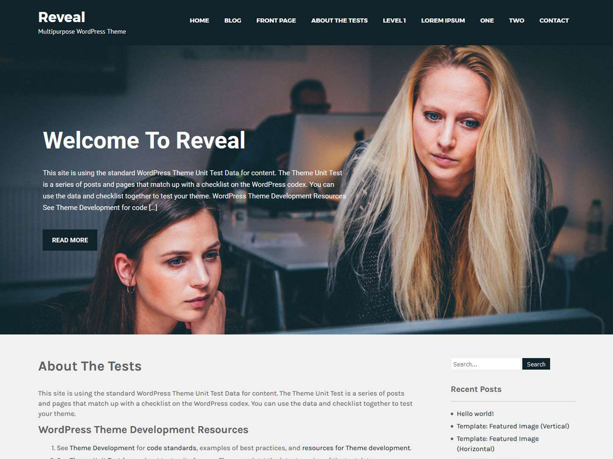 Reveal Lite Preview Wordpress Theme - Rating, Reviews, Preview, Demo & Download