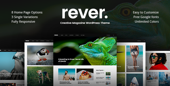 Rever Preview Wordpress Theme - Rating, Reviews, Preview, Demo & Download