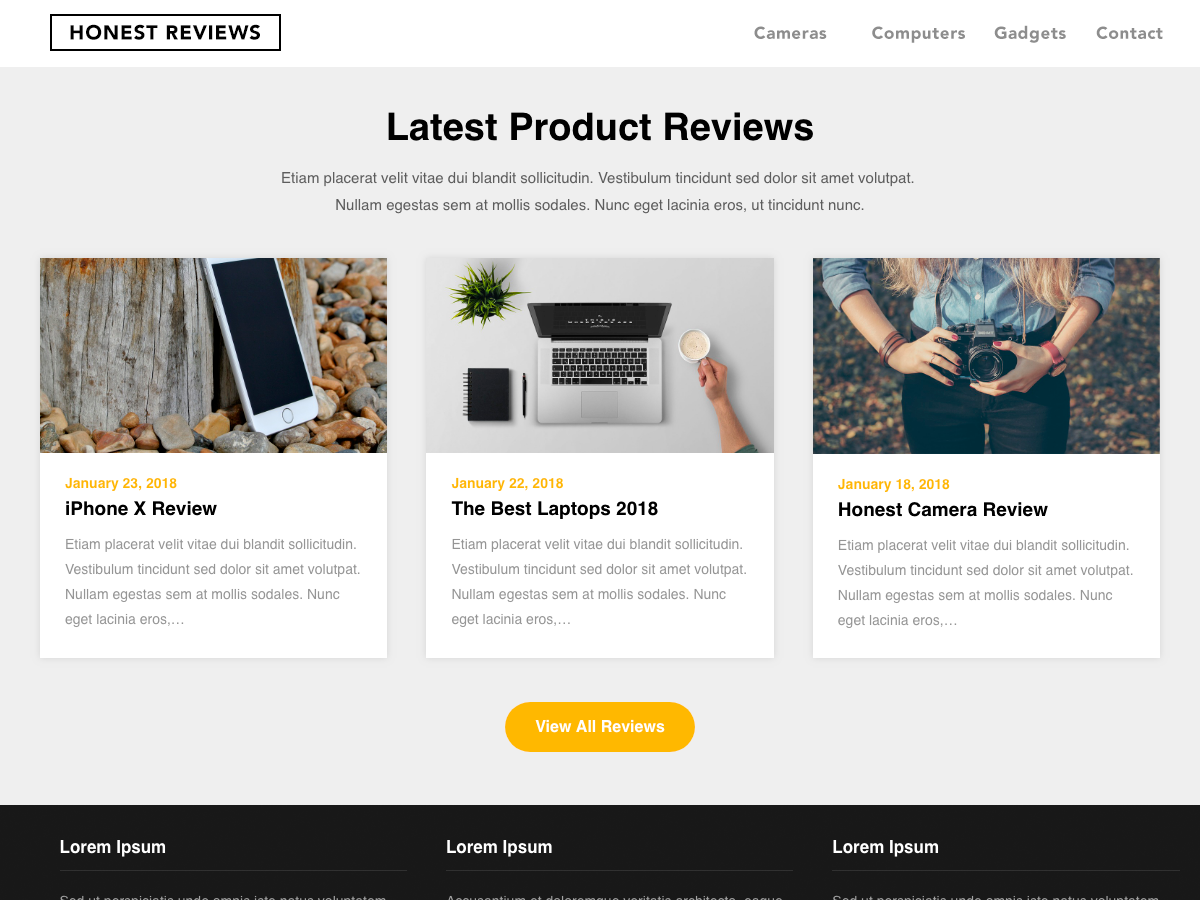 Reviewers Landing Preview Wordpress Theme - Rating, Reviews, Preview, Demo & Download