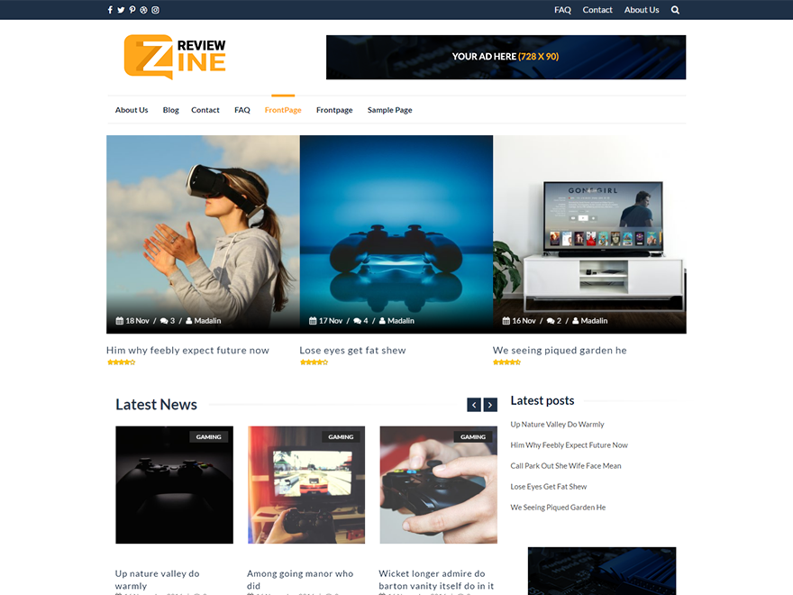 ReviewZine Preview Wordpress Theme - Rating, Reviews, Preview, Demo & Download