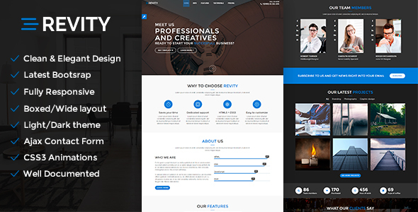 Revity Preview Wordpress Theme - Rating, Reviews, Preview, Demo & Download