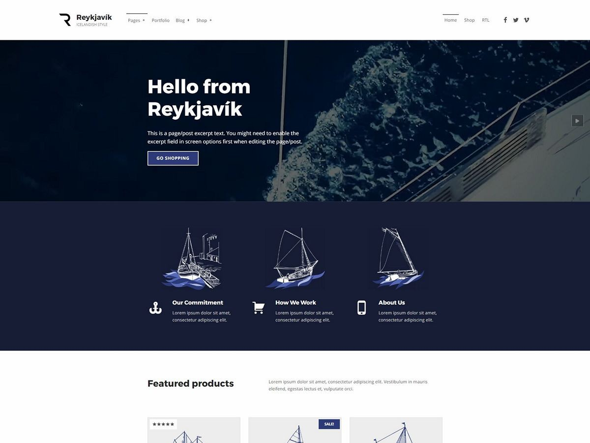 Reykjavik Preview Wordpress Theme - Rating, Reviews, Preview, Demo & Download