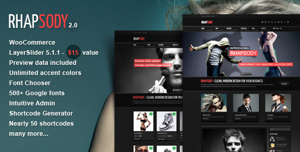 Rhapsody WordPress Preview Wordpress Theme - Rating, Reviews, Preview, Demo & Download