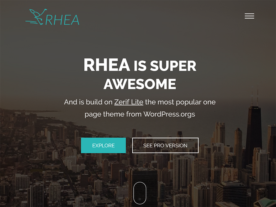 Rhea Preview Wordpress Theme - Rating, Reviews, Preview, Demo & Download
