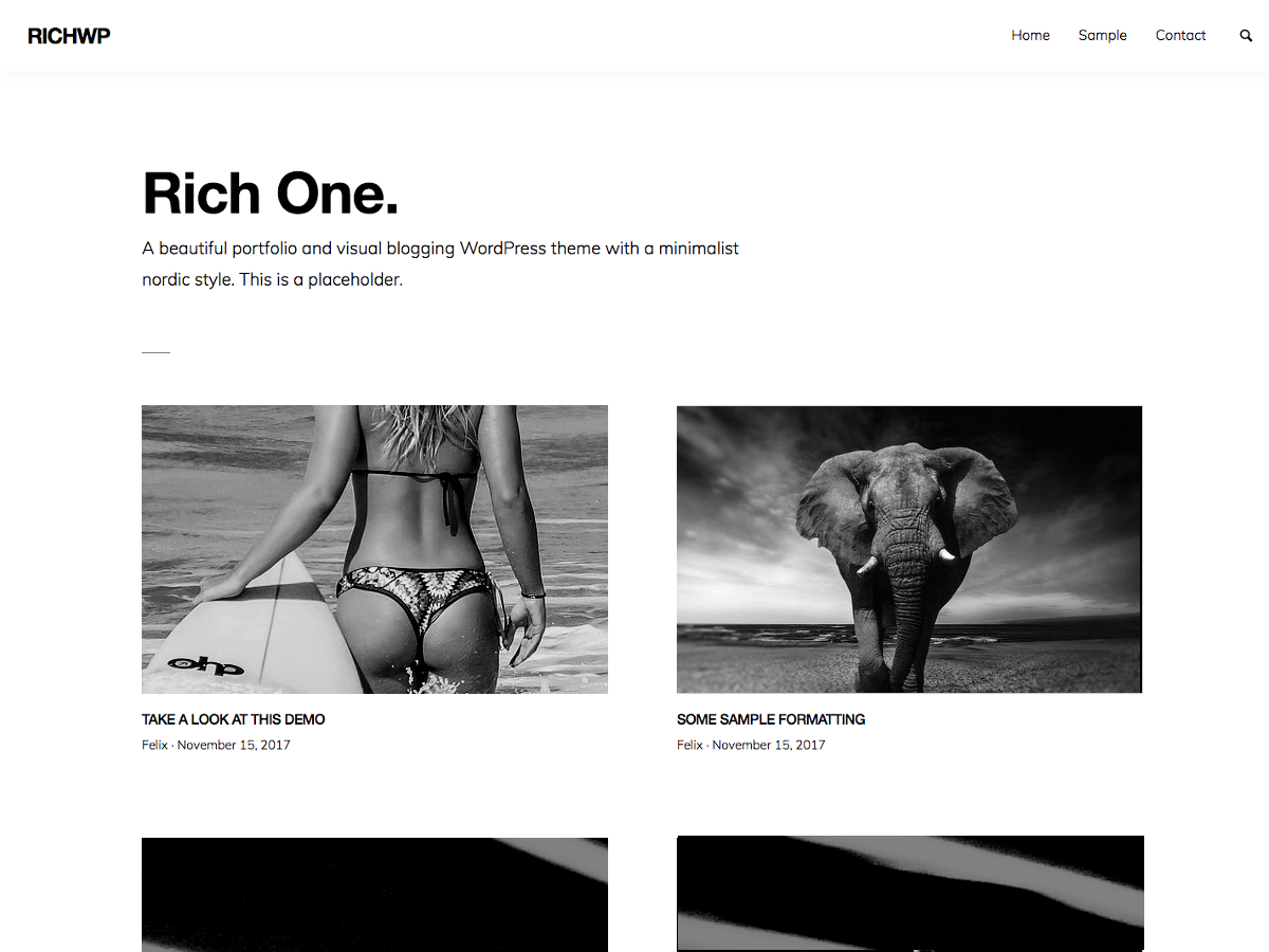 RichOne Preview Wordpress Theme - Rating, Reviews, Preview, Demo & Download