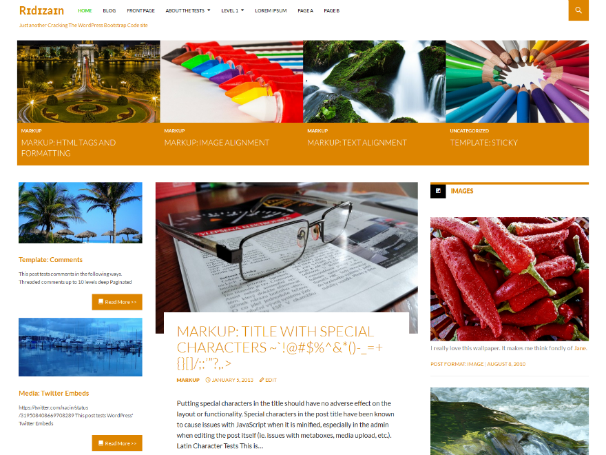 Ridizain Preview Wordpress Theme - Rating, Reviews, Preview, Demo & Download