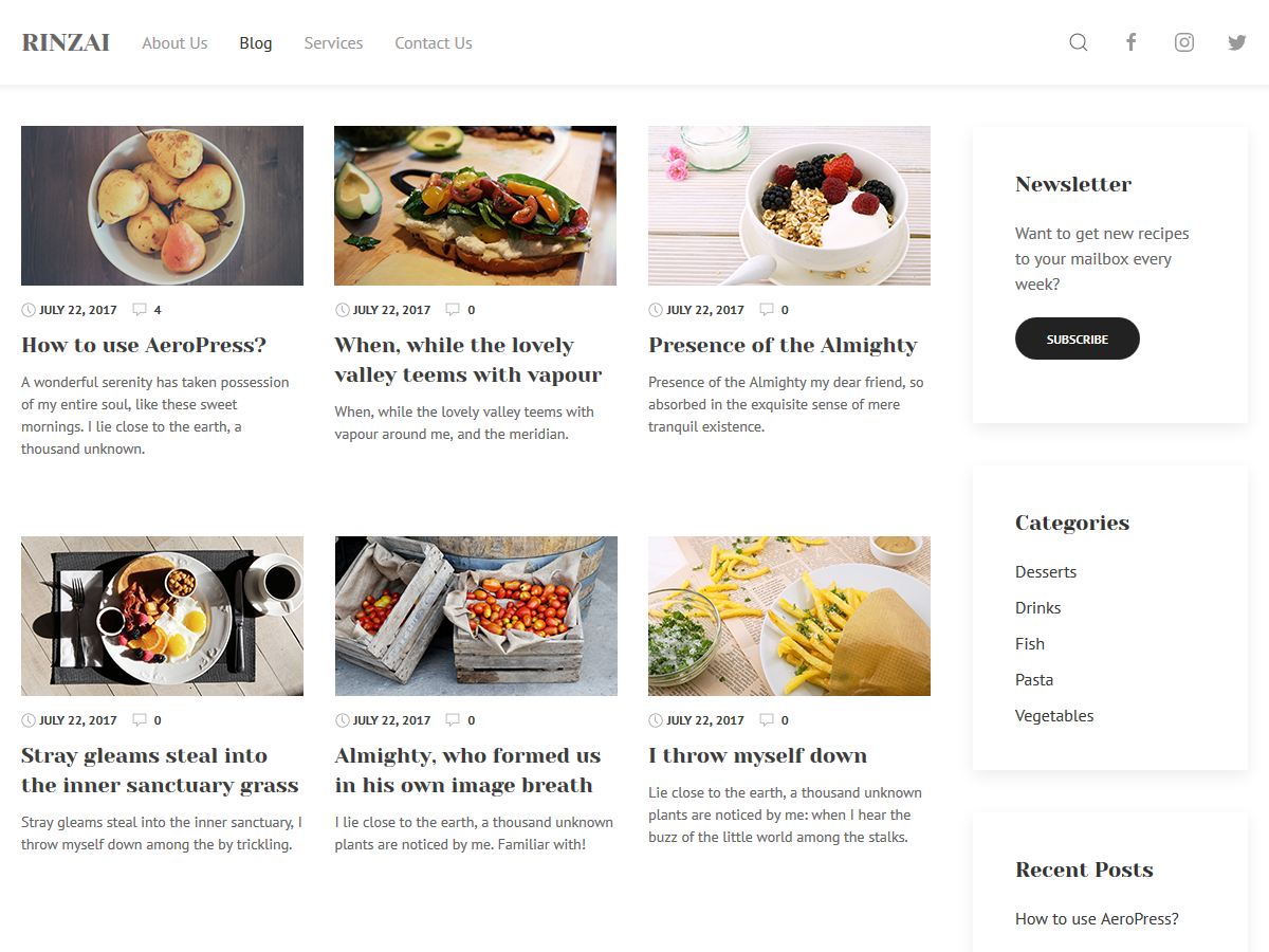 Rinzai Preview Wordpress Theme - Rating, Reviews, Preview, Demo & Download