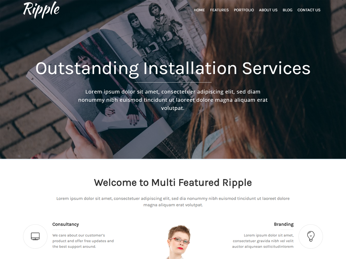 Ripple Preview Wordpress Theme - Rating, Reviews, Preview, Demo & Download