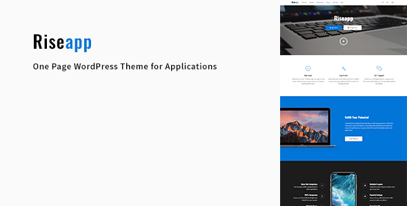 Riseapp Preview Wordpress Theme - Rating, Reviews, Preview, Demo & Download