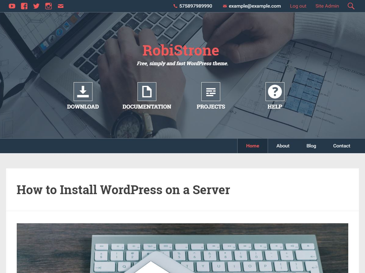 RobiStrone Preview Wordpress Theme - Rating, Reviews, Preview, Demo & Download