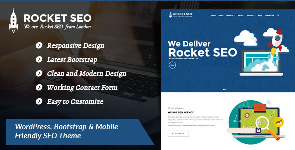 Rocket SEO Preview Wordpress Theme - Rating, Reviews, Preview, Demo & Download